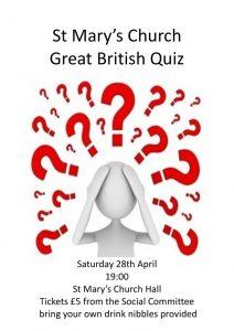 Great British Quiz @ St Mary's Church Hall