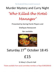 Coming up-Murder Mystery Curry Night – Saturday 27th October