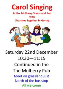 Carols on the green & Mulberry pub