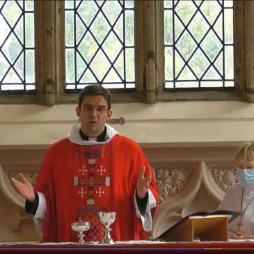 The Rev'd Neill Stannard Celebrates his first Eucharist